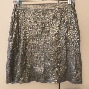 Michael by Michael Kors Silver sequin Mini skirt